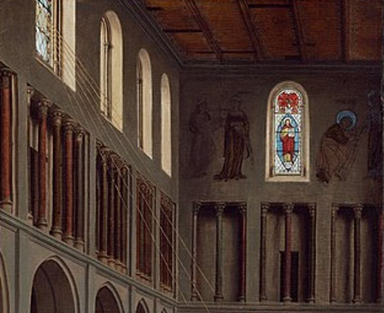 Annunciation van eyck imagery on the walls
