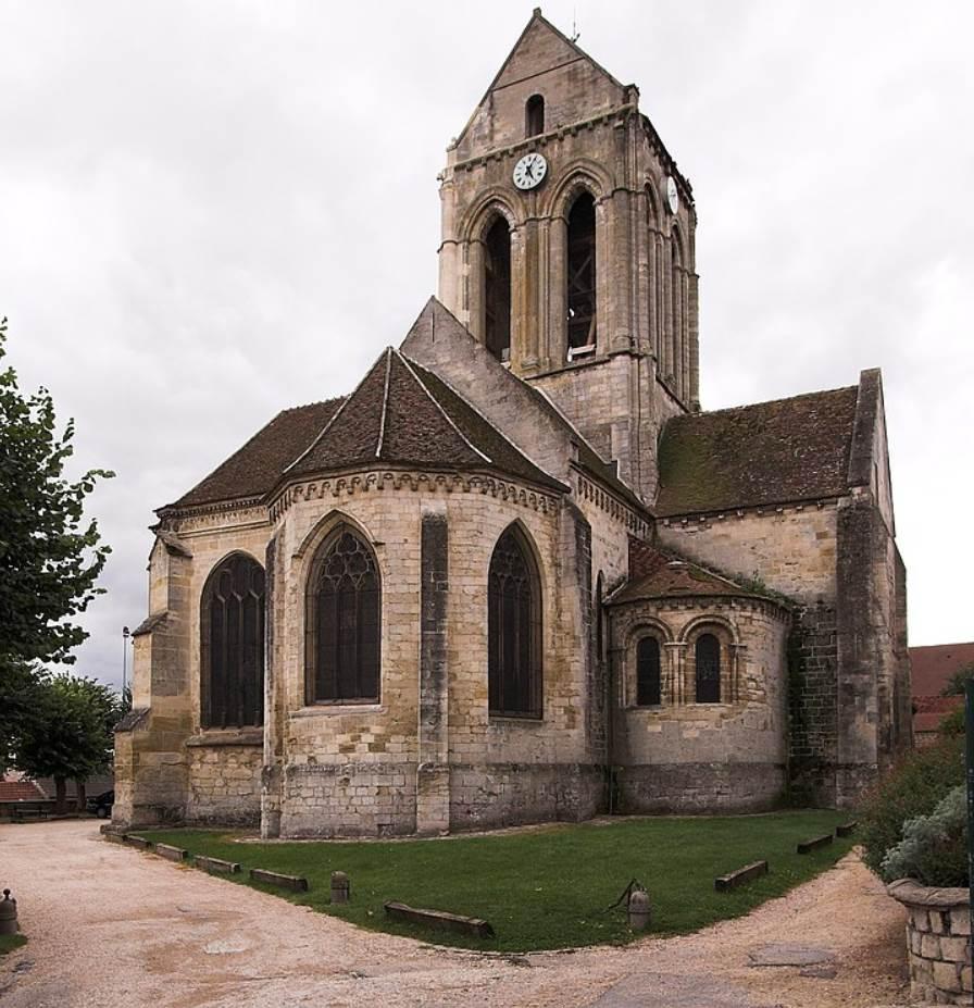 Auvers-sur-Oise real church