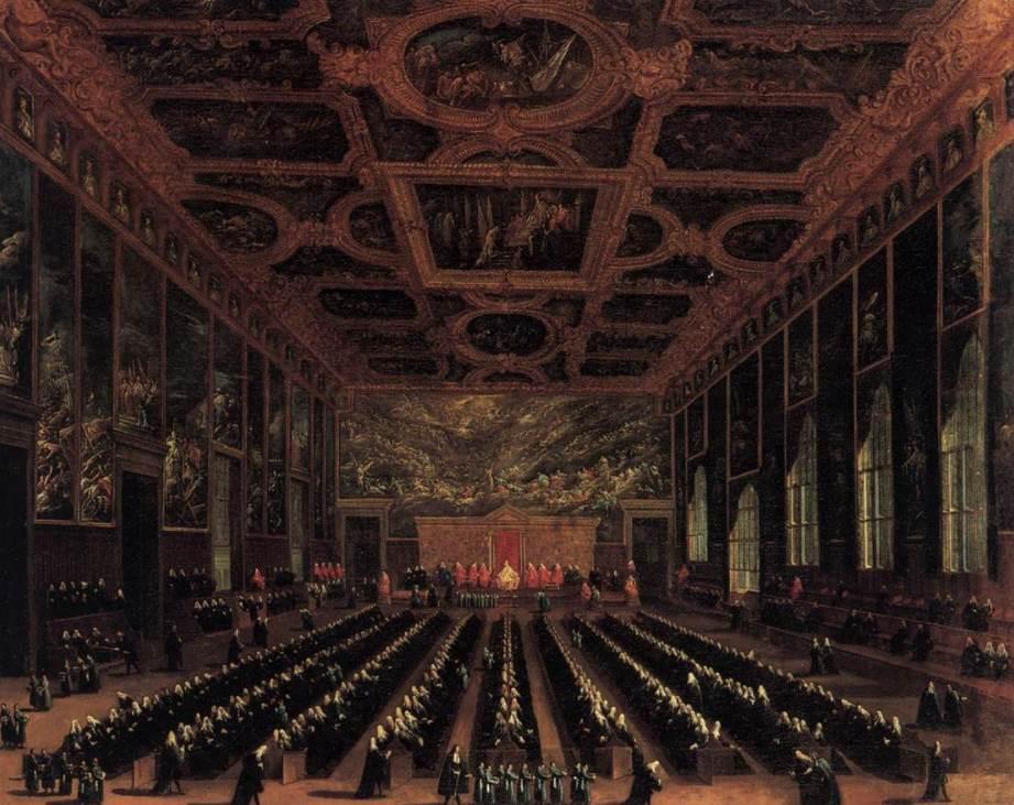 Doges palace council of Venice