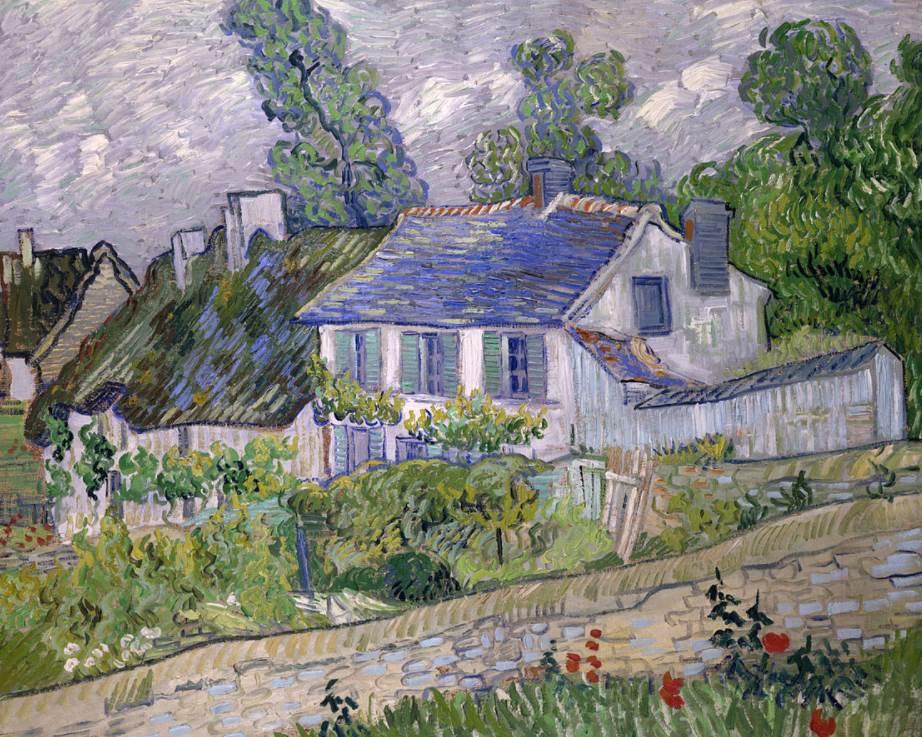 Houses at Auvers van gogh