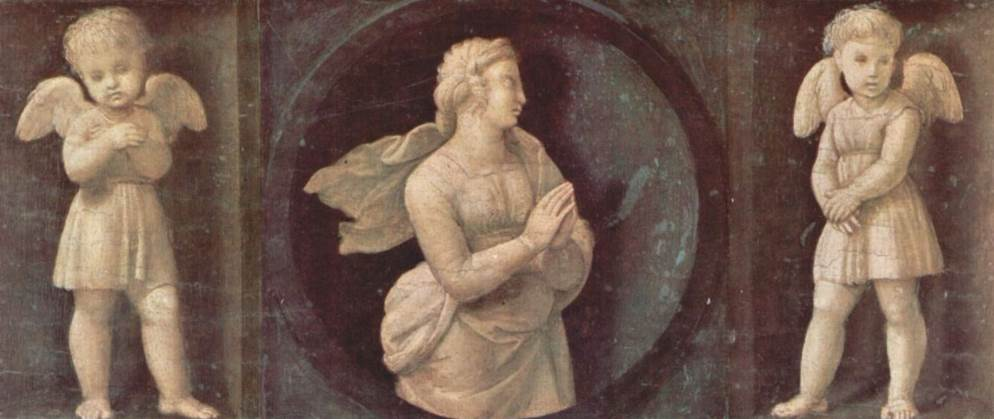 Panel depicting faith raphael