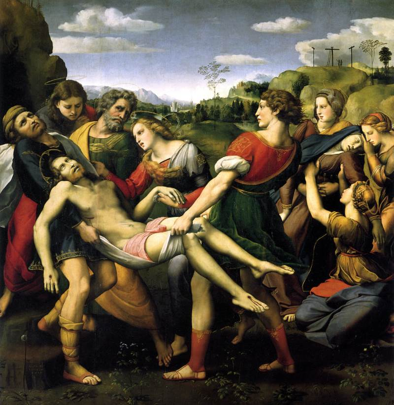 The deposition by Raphael full painting