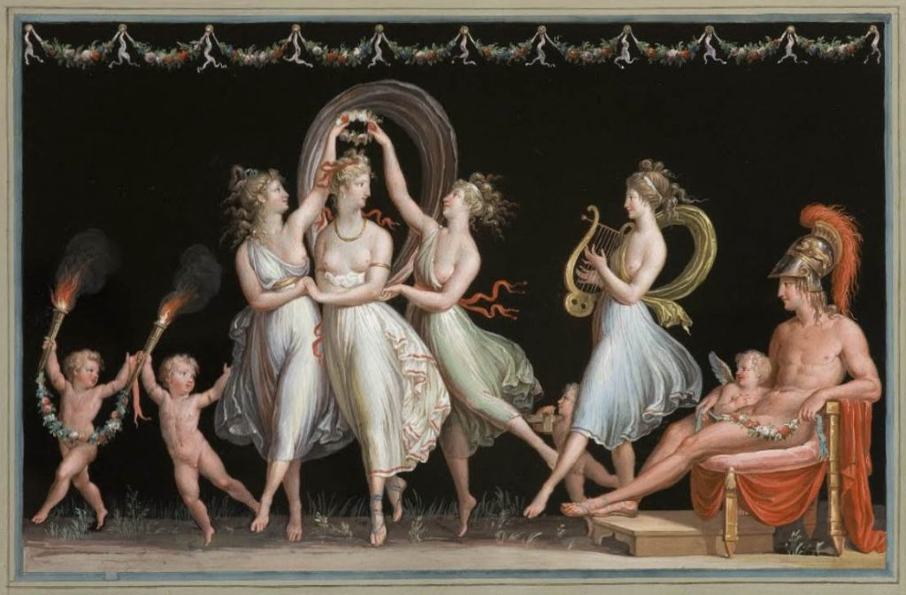 The three graces atnonio canova painting