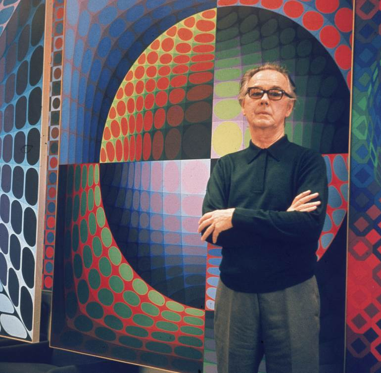 Famous Op Art artists Victor Vaseraly