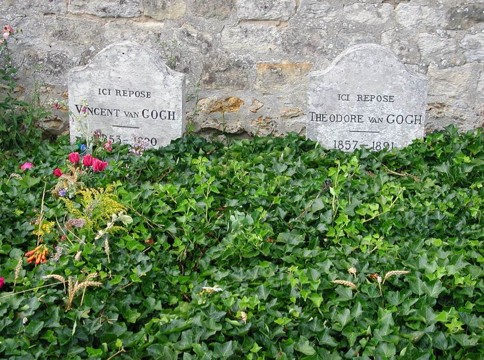 Vincent and theo van gogh tombs