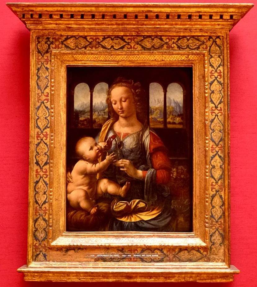Madonna of the Carnation size