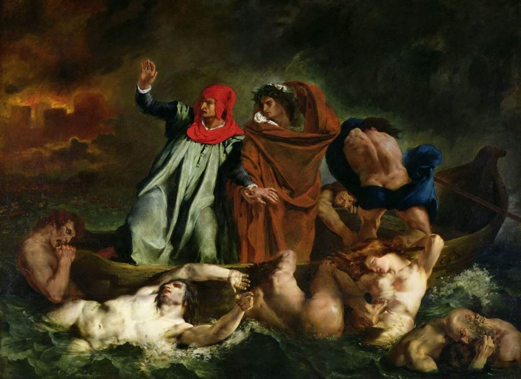 The Barque of Dante full painting