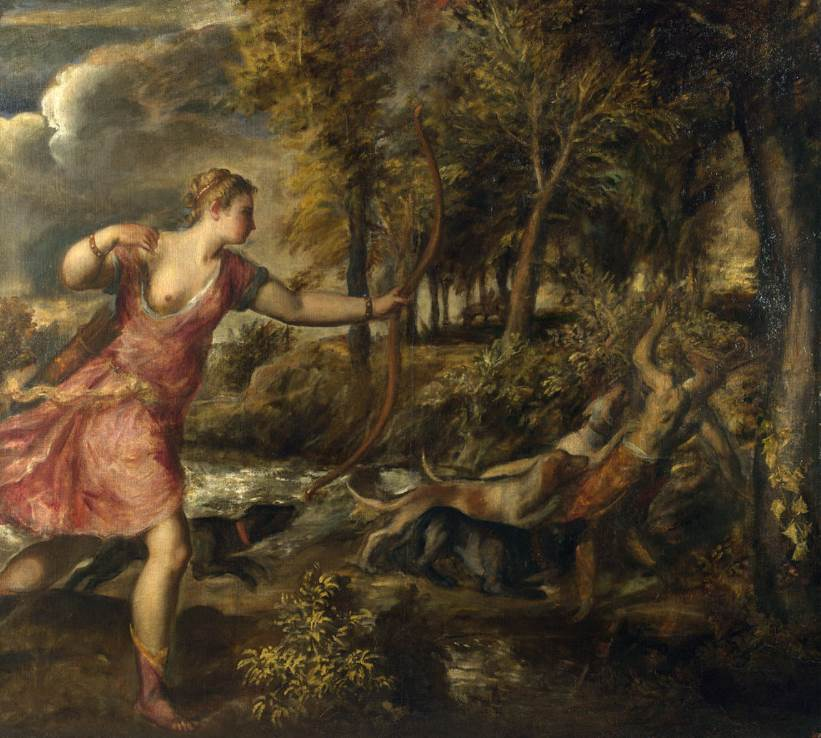 The Death of Actaeon Titian