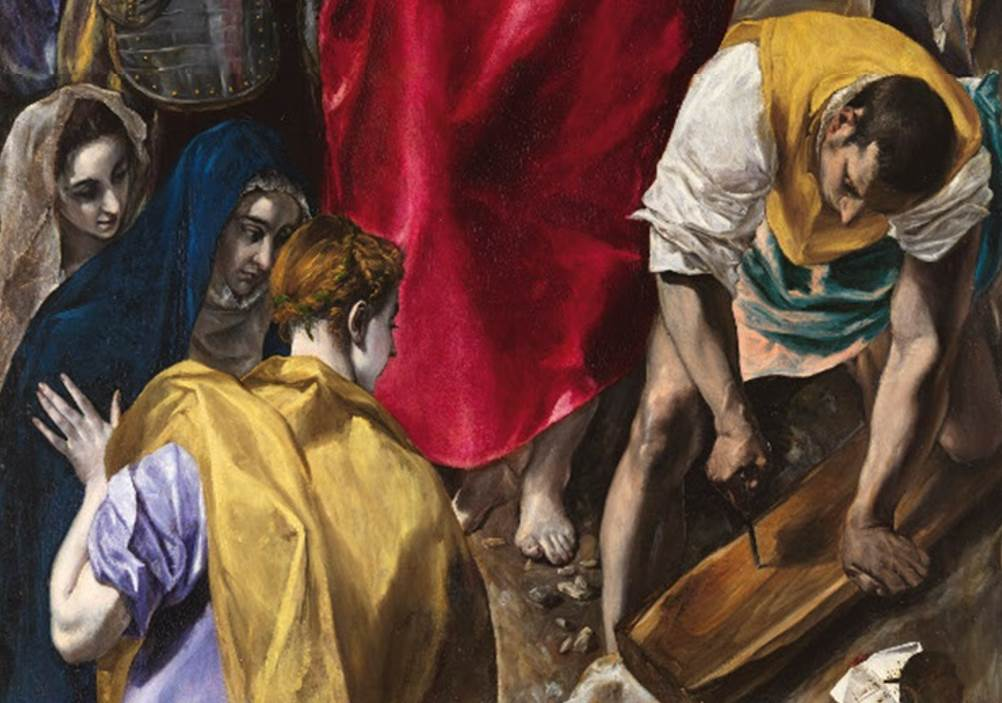 The disrobing of Christ Three Marys