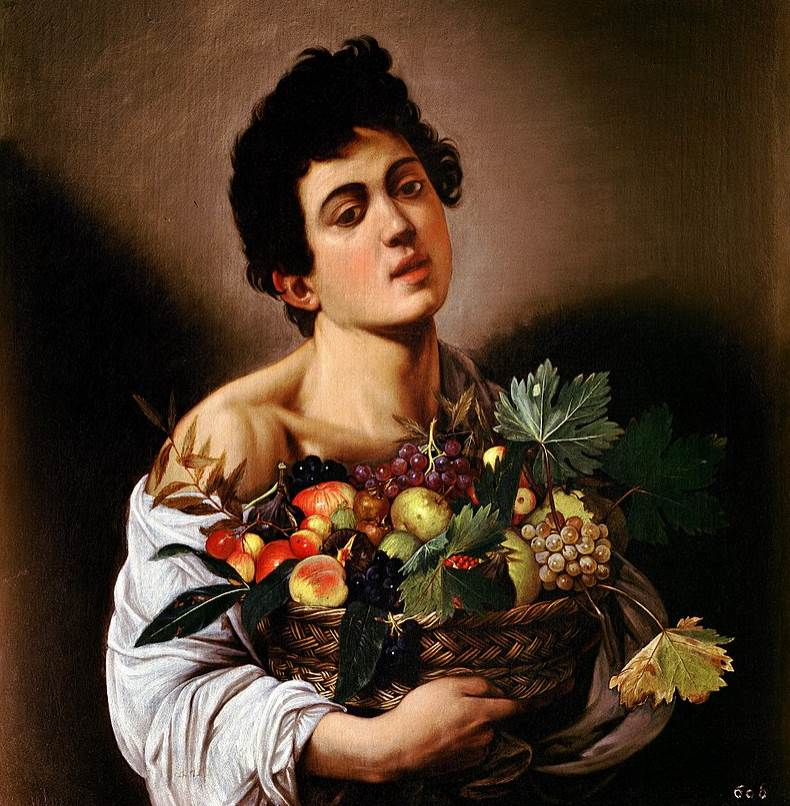 Boy with a basket of fruit Caravaggio