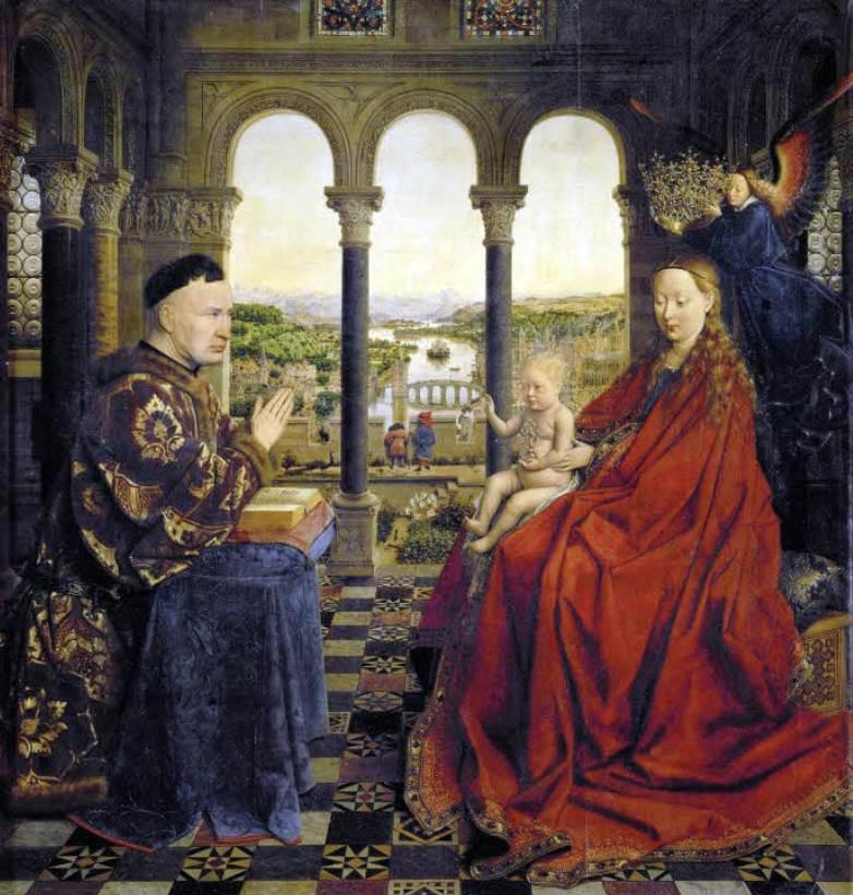 Madonna of Chancellor Rolin van Eyck Louvre