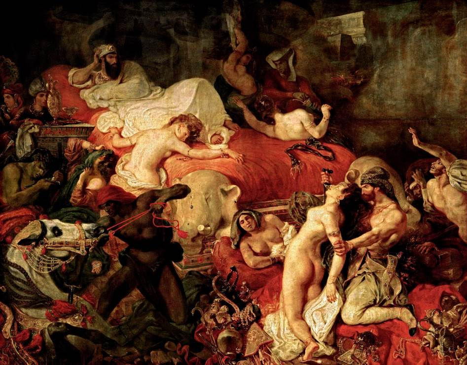 The Death of Sardanapalus by eugene delacroix
